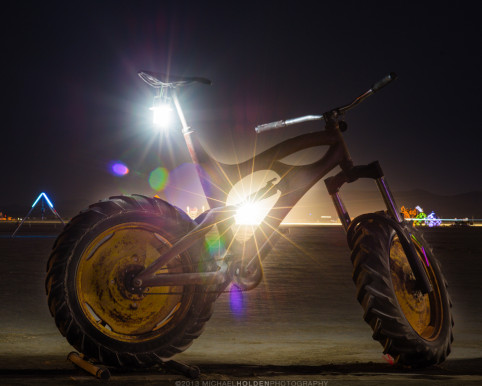 Burning Man Art Preview: Big bike.