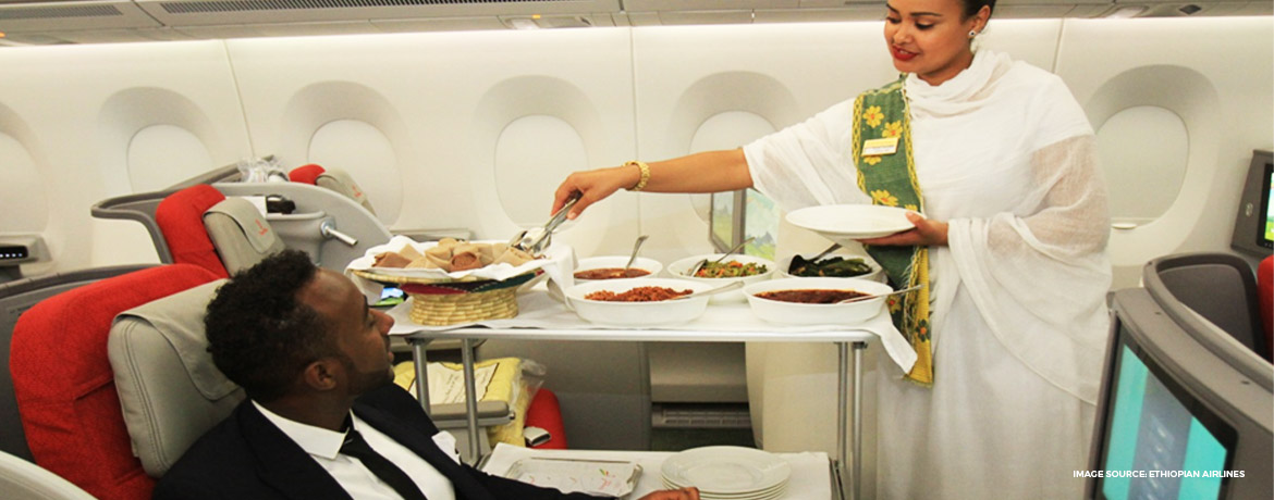 Ethiopian Airlines business class B787