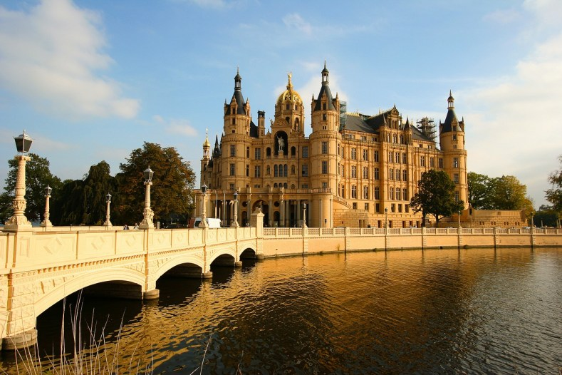 Most beautiful castle in Europe Schwerin Castle in Germany