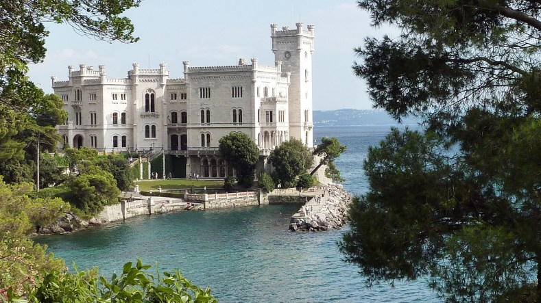 Most beautiful castle in Europe castello-di-miramare