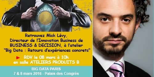 Big Data Paris : Atelier Big Data par Mick Lévy