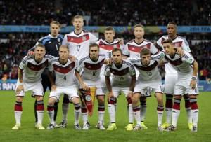L'équipe nationale allemande lors de la Coupe du Monde de football 2014