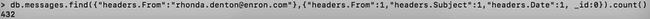 [Tutoriel] MongoDB : Indexation et performance - enron-count-rhonda8