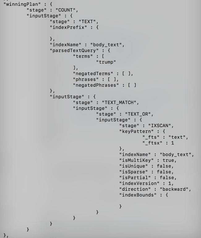 [Tutoriel] MongoDB : Indexation et performance - enron-trump-query16