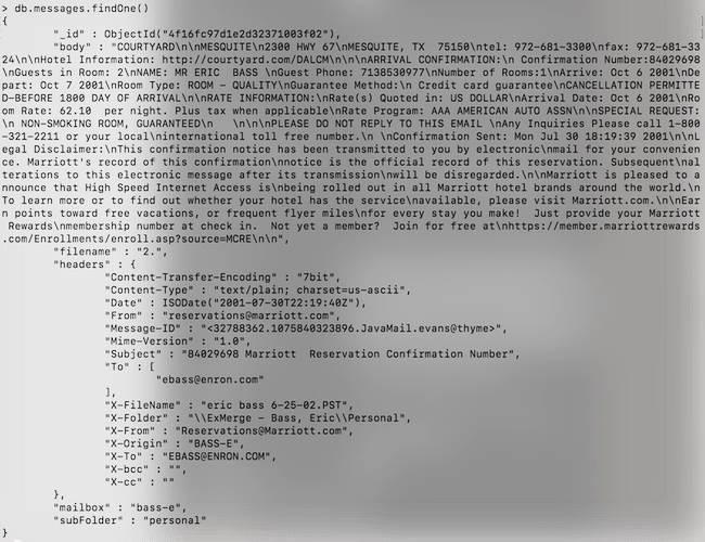 [Tutoriel] MongoDB : Indexation et performance - enron-message2