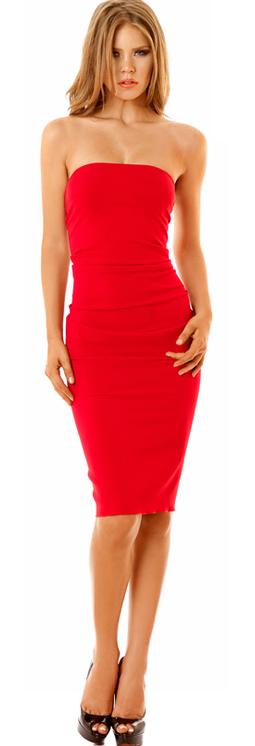 Nicole Batki Red Cocktail Dress