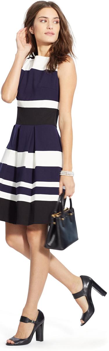 Ralph Lauren Color Blocked Dress