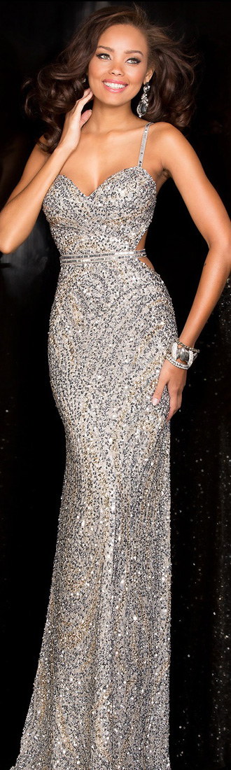 SCALA gown in Silver