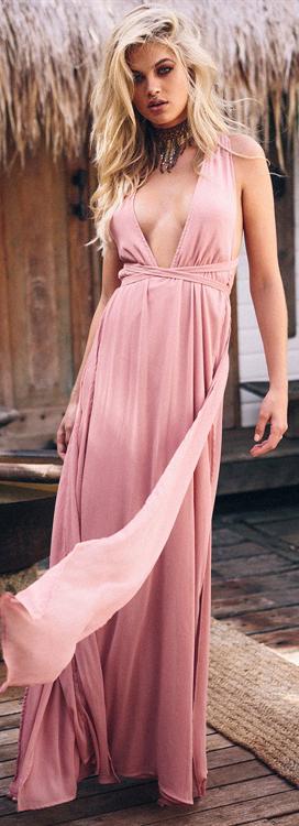 Indie Rose Boho Dress in Blush