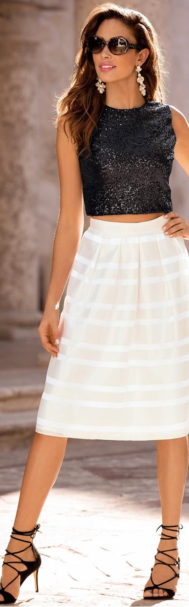 Burnout A Line Skirt