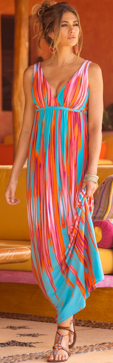Colorflow Maxi Dress