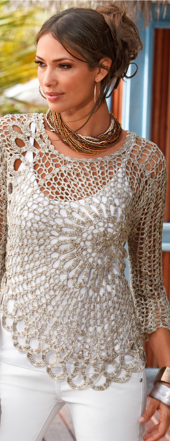 Daring Crochet Sweater