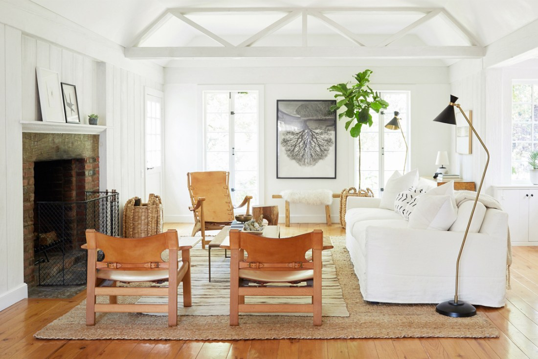 earthy furniture. Jenni Kayne Living Room Makeover | One Kings Lane Urban Earthy Interiors Furniture