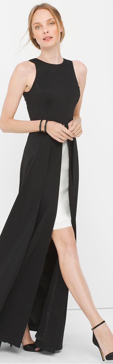 Sleeveless Overlay Gown