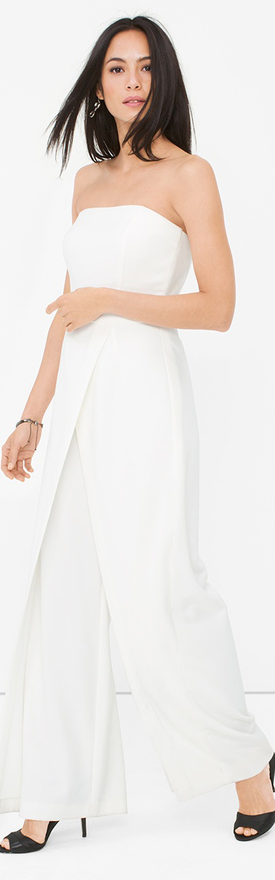 Convertible White Strapless Jumpsuit