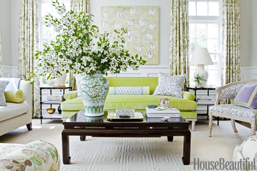 Pantone Greenery Living Room | Ashley Whittaker