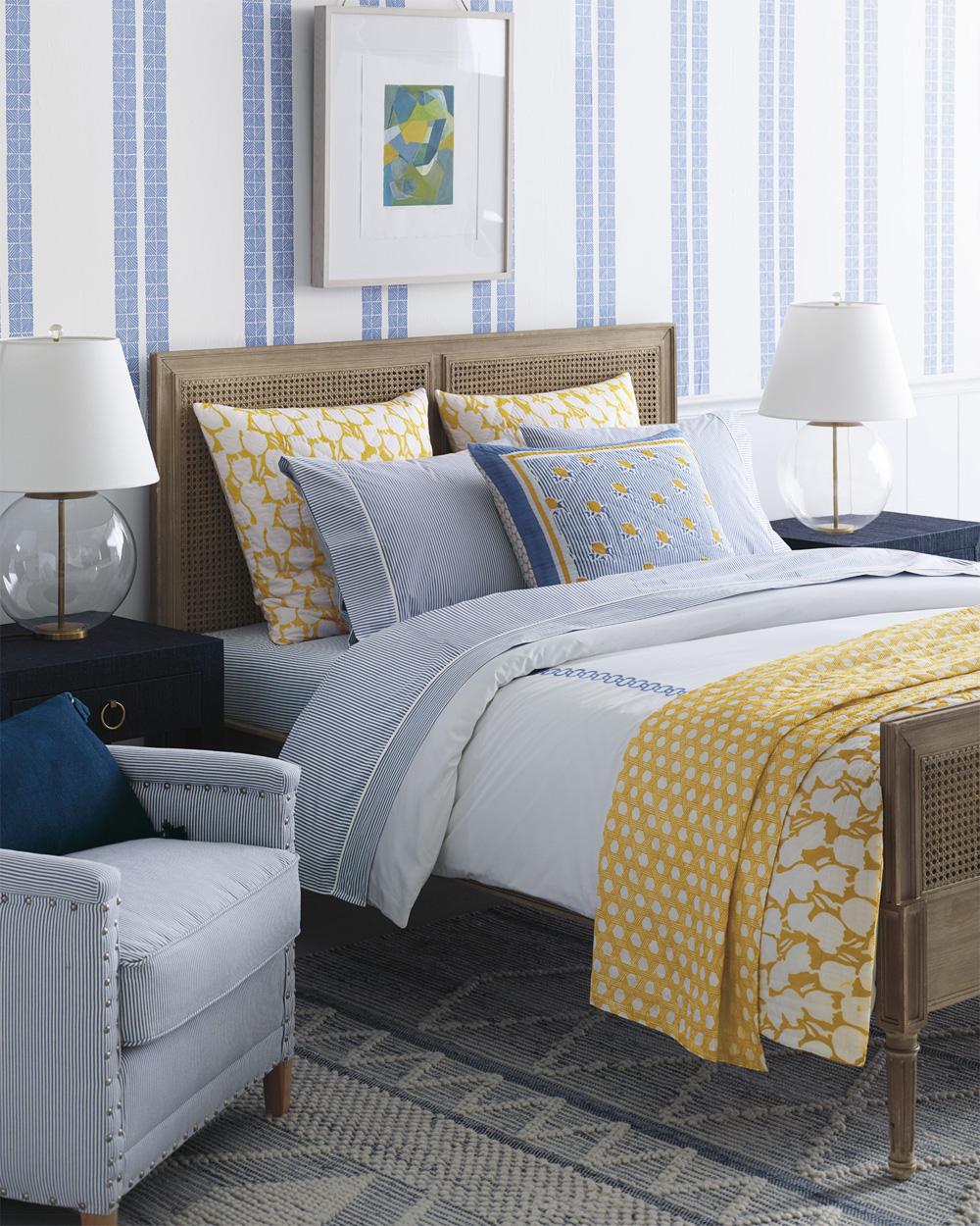 Blue & Yellow Savoy Bedding