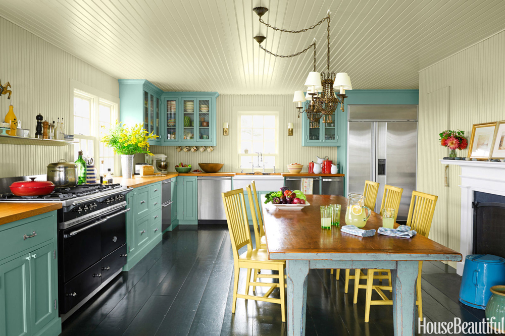 Colorful Farmhouse Kitchen