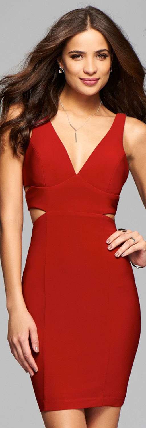 Faviana Red Cocktail Dress