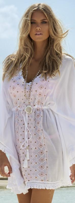 Melissa Obadash Isabelle Kaftan in White