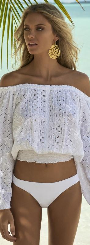 Melissa Obadash Adriana Top in White