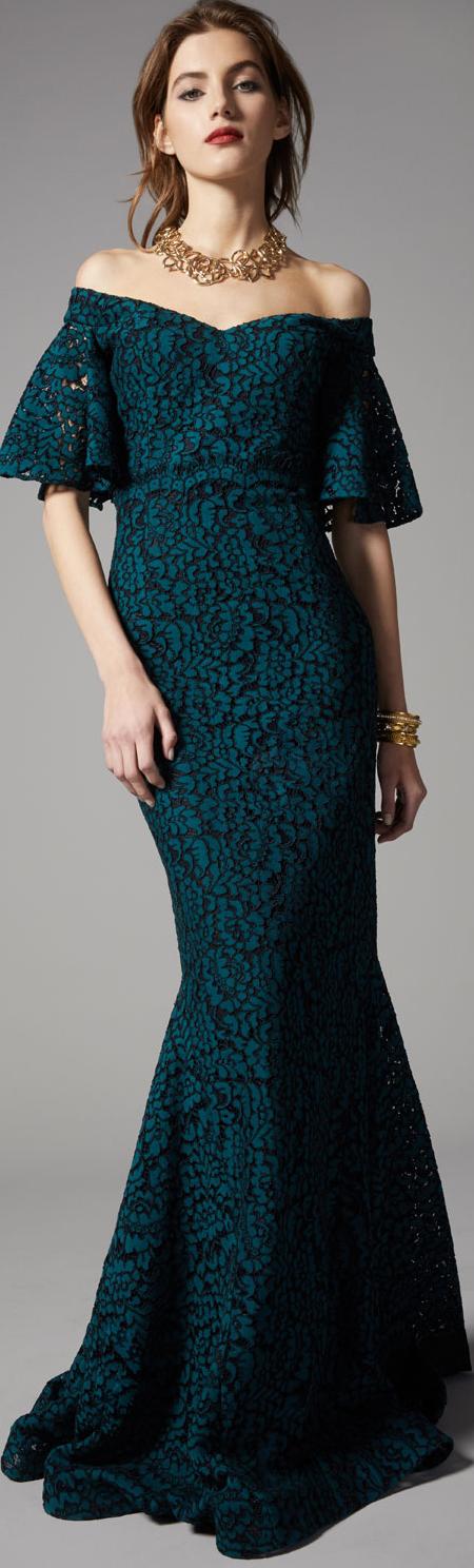 Rickie Freeman for Terri Jon Lace Mermaid Gown