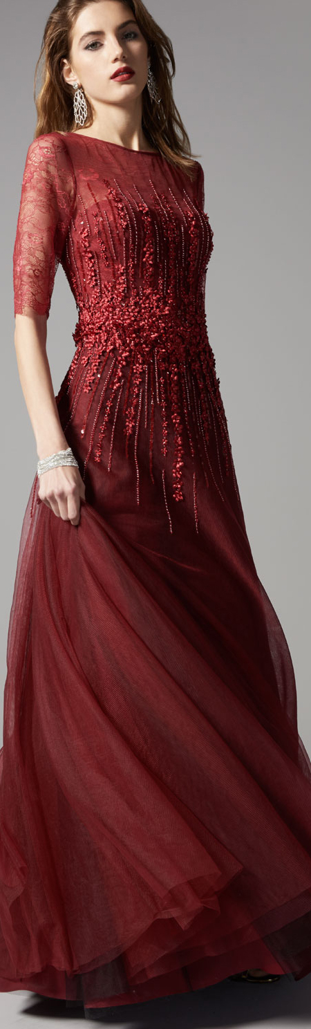 Rickie Freeman Tulle Gown