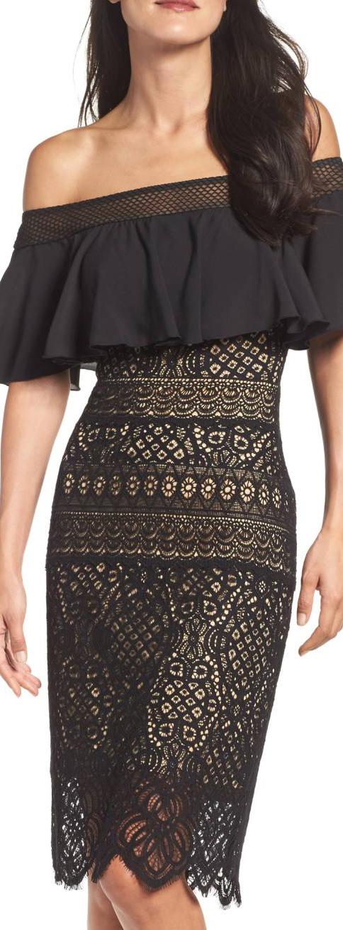 Tadashi Shoji Off The Shoulder Sheath Dress