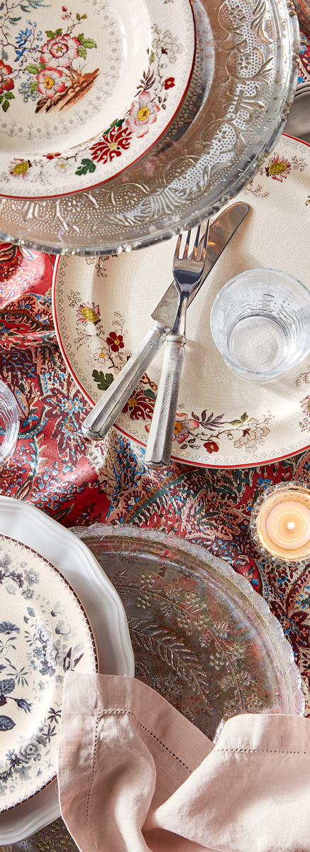 Fall Decorating | Artisanal Vintage Floral Dinnerware