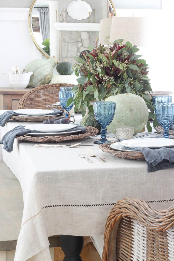 Informal Fall Tablescape