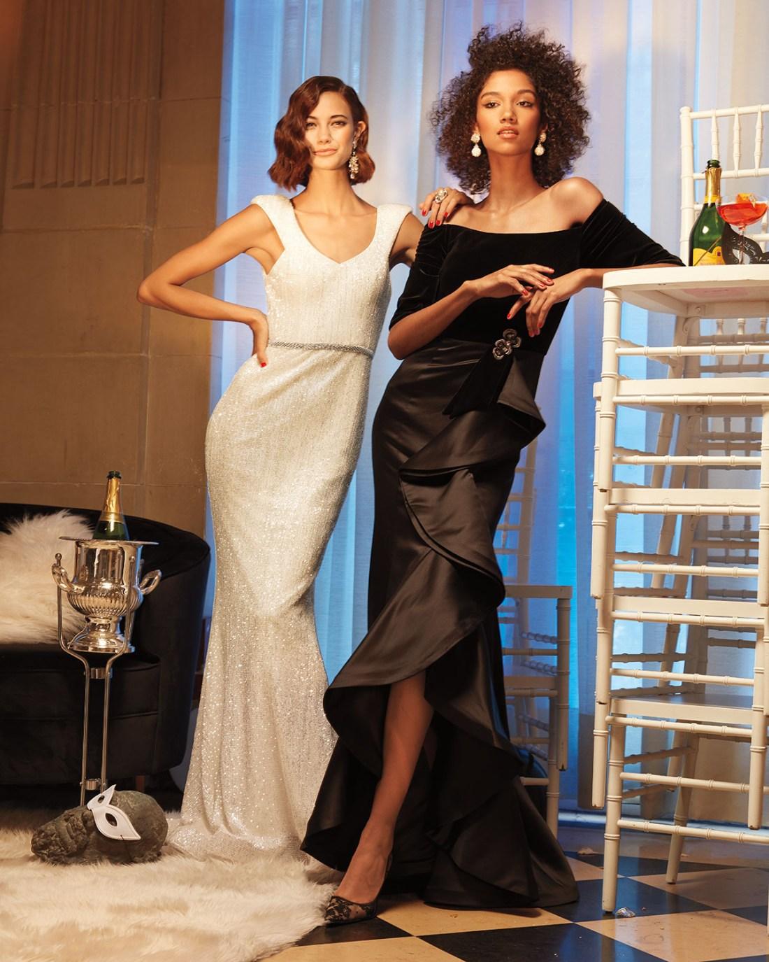 Jovani Velvet & Taffeta Gown