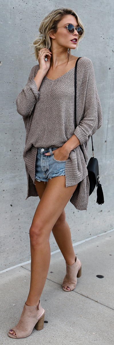 Oversize Solid Color Sweater | Casual Fashion