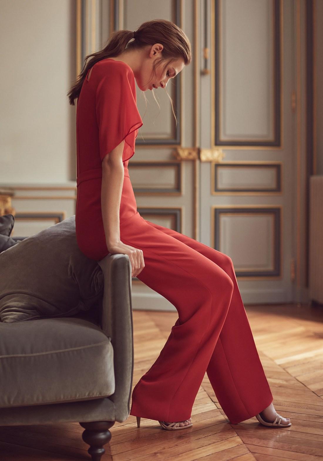 Scarlett Wide Leg Red Jumpsuit