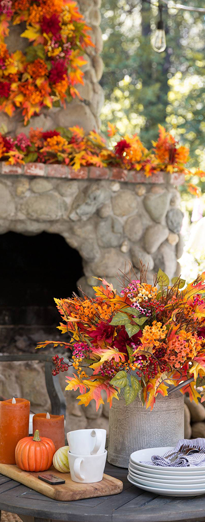 Outdoor Harvest Bloom Foliage | Outdoor Fall Decorations