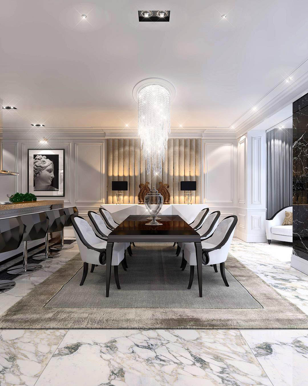Glamorous Dining Room Ideas | Constantin Frolov Interior Design