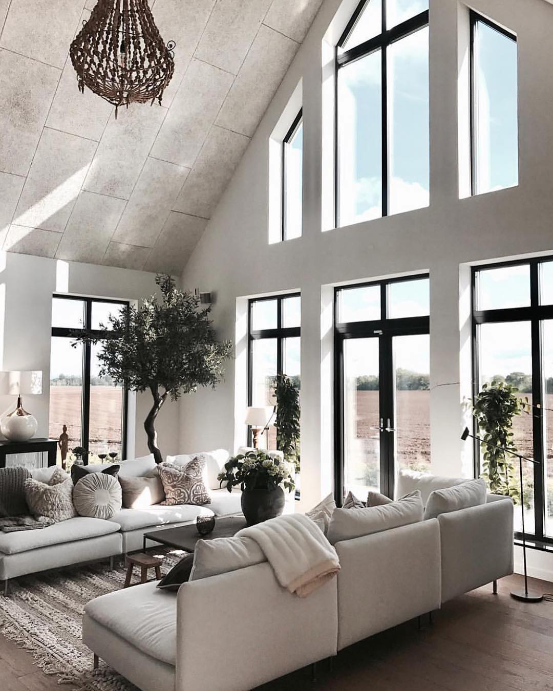 White Textural Living Room
