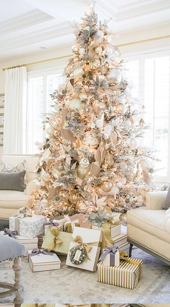 Blush Christmas Tree by Randi Garrett Design