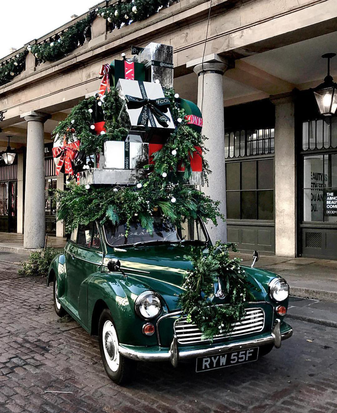Christmas Gifts on a Car