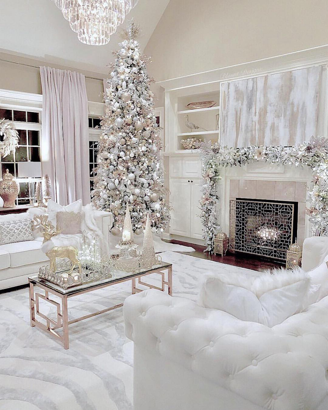 Silver & White Christmas Tree | Blount Designs