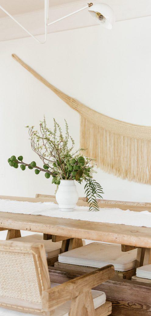 Frayed Linen Table Runner