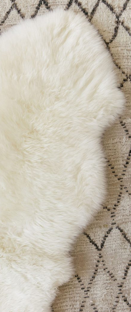 Double Sheepskin Rug in Ivory