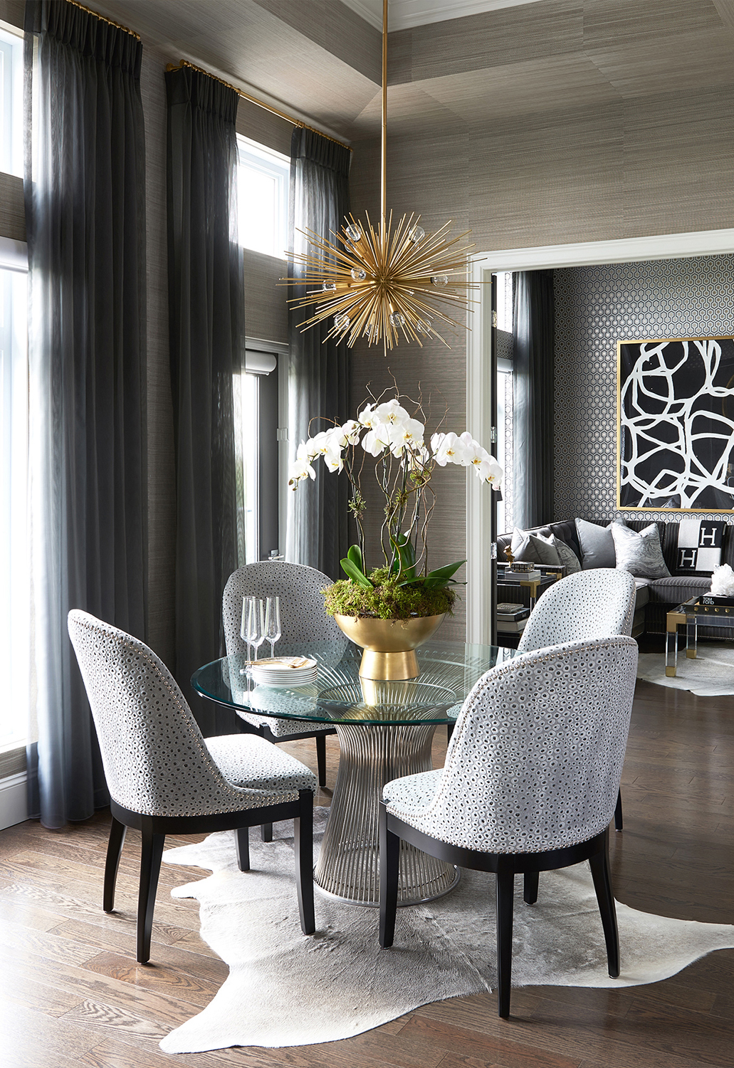 Glamorous Dining Room | Luxe on Broadway | Atmosphere Interior Design