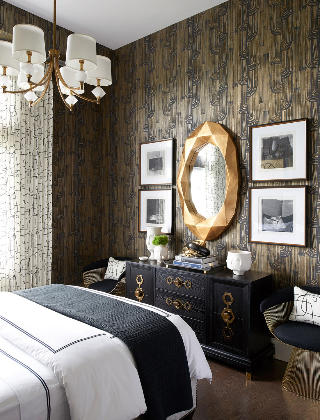 Glamorous Bedroom | Luxe on Broadway | Atmosphere Interior Design