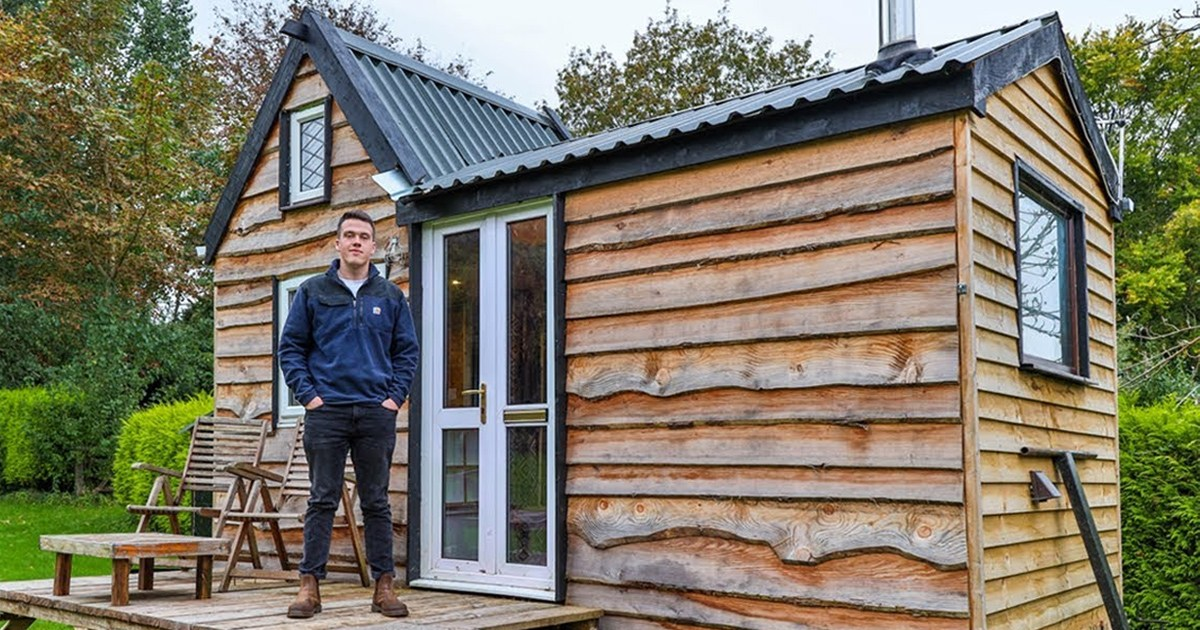 Teen Built His Dream Tiny House From Scratch Using