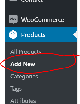Add products in WooCommerce Store