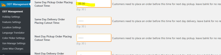 Same day cutoff time In WooCommerce