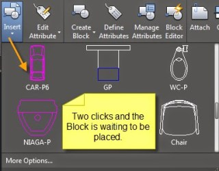AutoCAD 2015 ribbon gallery, blocks