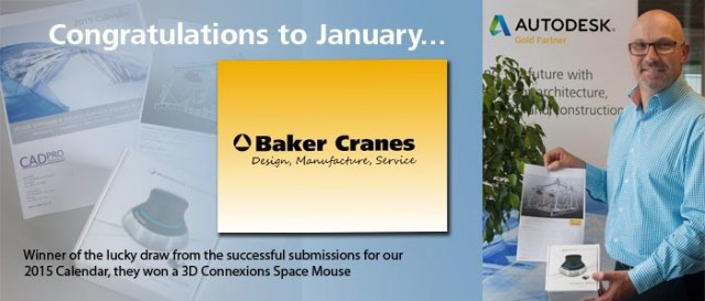 Baker Cranes winner of Cadpro Systems Ltd draw