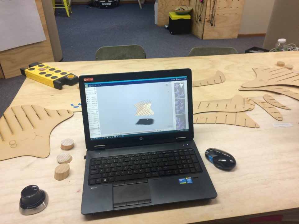 Using Fusion 360 and 123D Make to design chair.