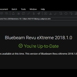 Bluebeam Revu 2018.1 update